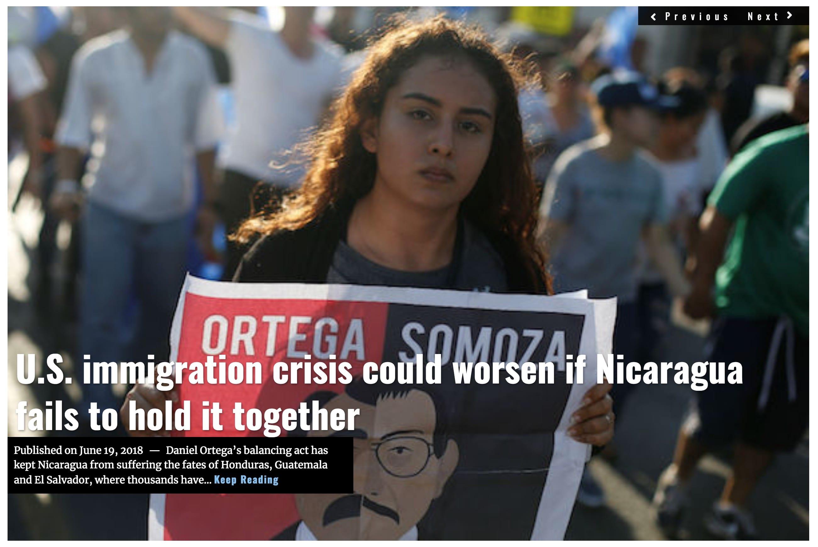 IMAGE Lima Charlie News Headline US Immigration Nicaragua JUN 19 2018