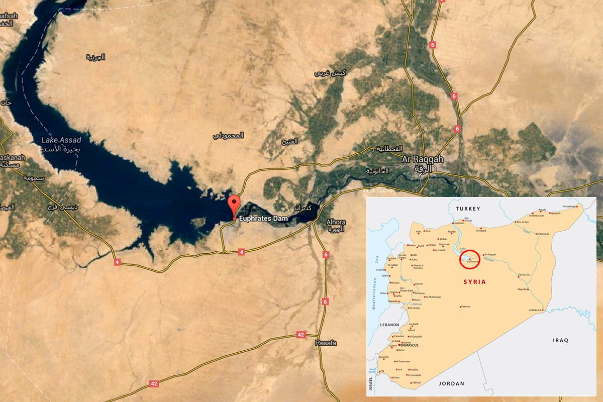 Syria Map - Tabqa Dam