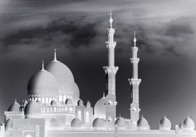 mosque bw