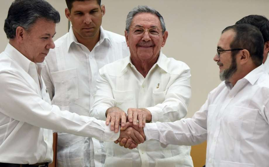 Colombia FARC Peace Signing