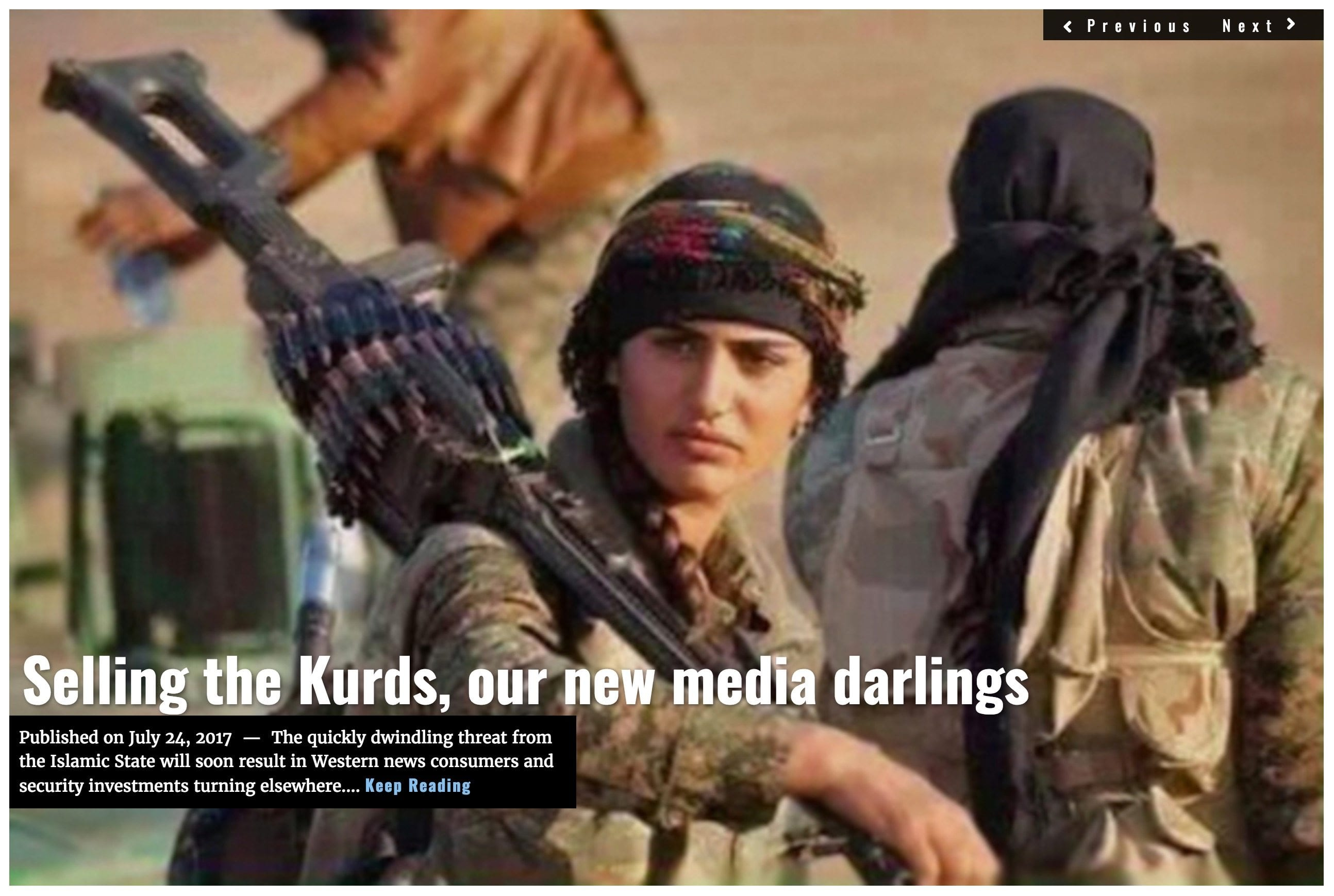 Image Lima Charlie News headline Kurds