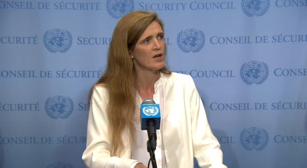 US Ambassador Samantha Power