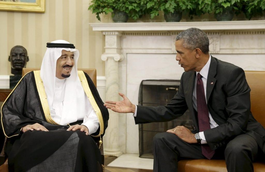 Image Saudi King Salman President Obama