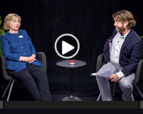 Image Between Two Ferns with Hilary Clinton