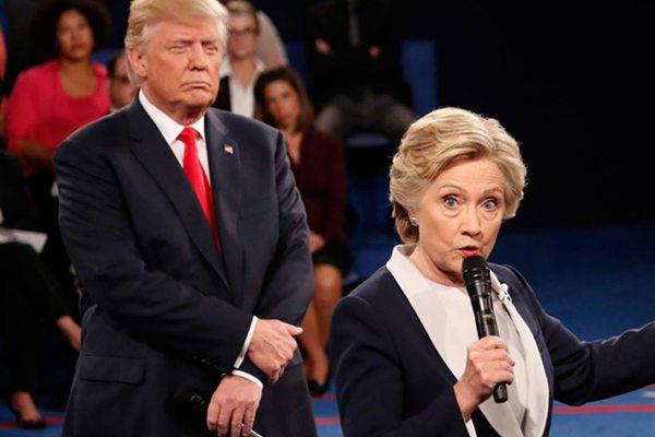 Image Horse Race Trump Clinton Debate 2