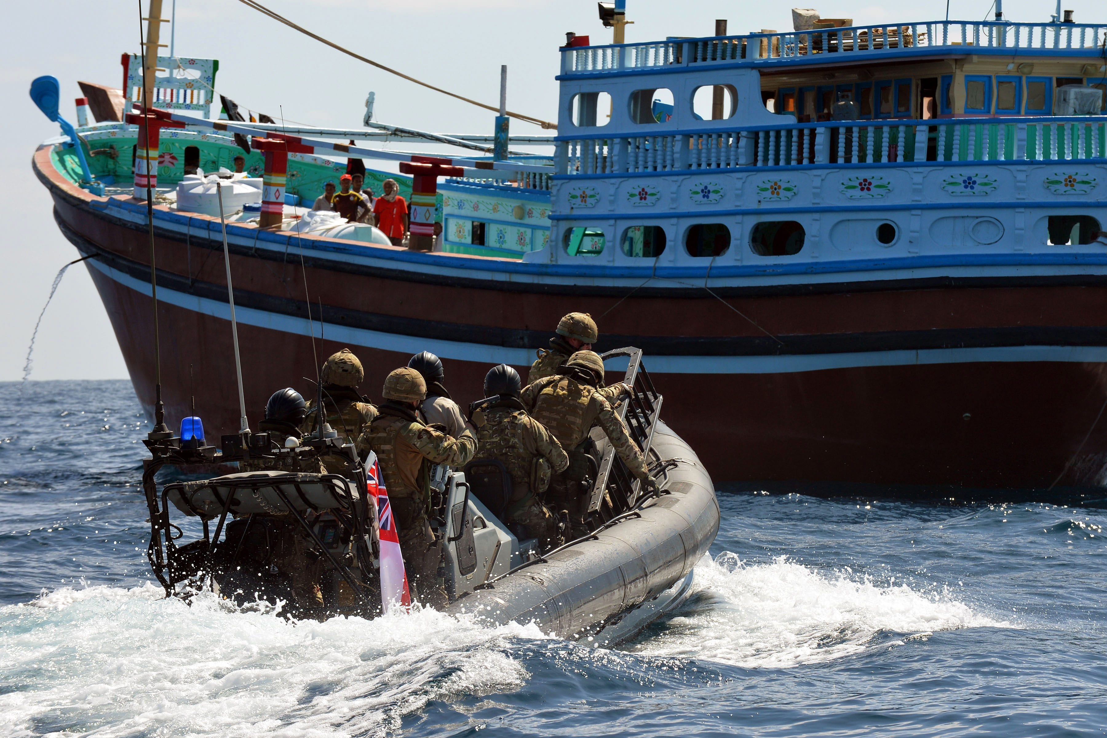 Image Combined Maritime Forces (Royal Marines) board a dhow