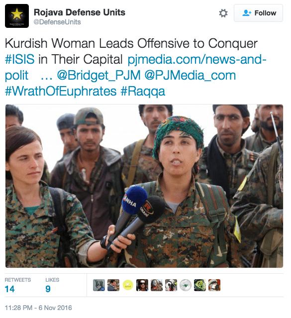 Image Kurdish Rojava tweet