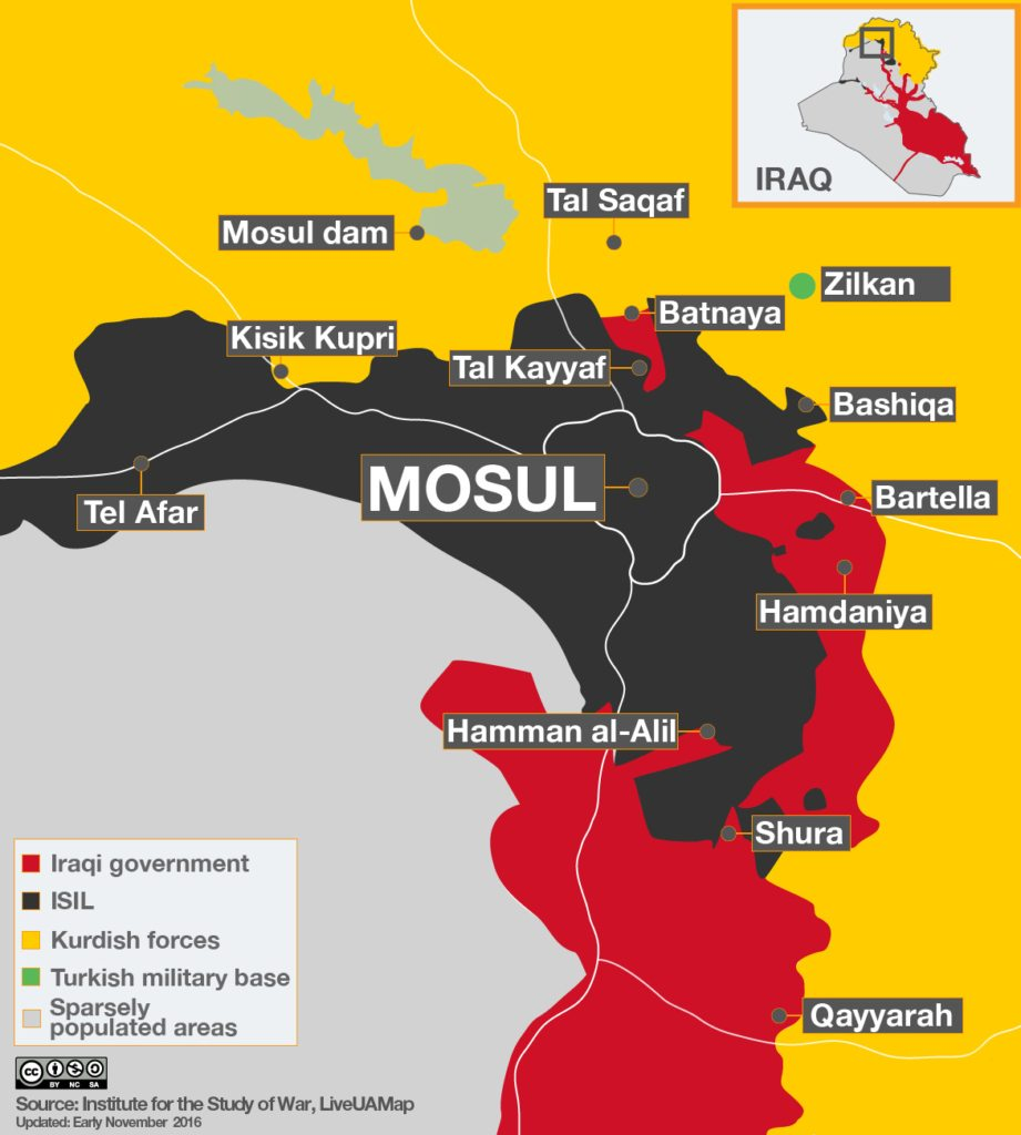 Image map mosul offensive