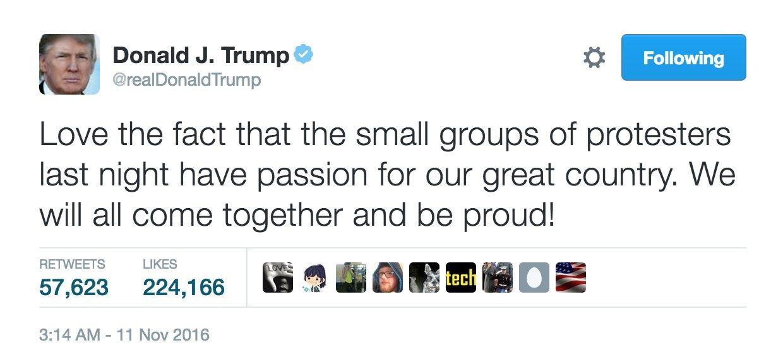 Image Trump tweet protesters 2