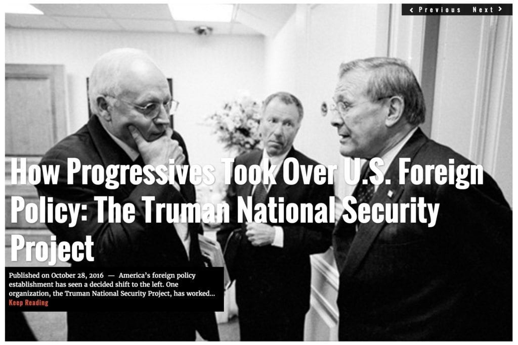 Image How Progressives Took Over US Foreign Policy: The Truman National Security Project