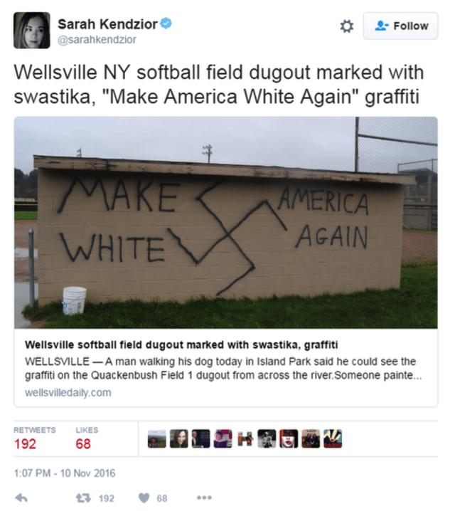 Image tweet Nazi graffiti