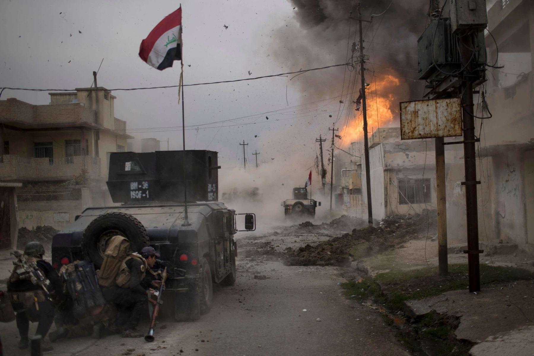 Image car bomb Mosul