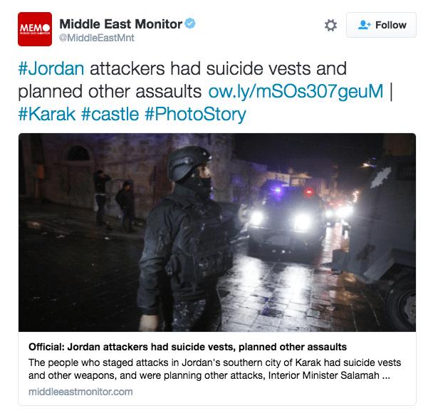 Image tweet Jordan Karak attack
