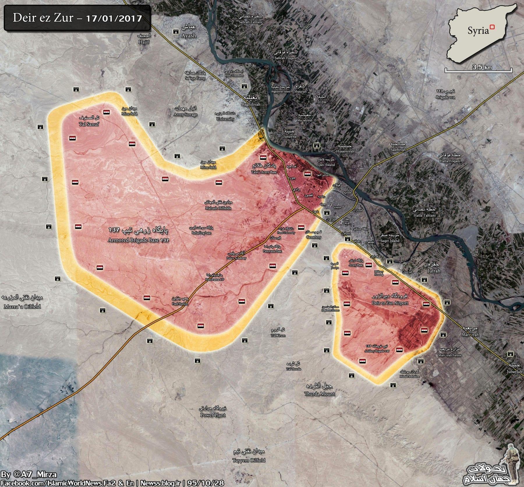 Image map Deir Ezzor, January 2017
