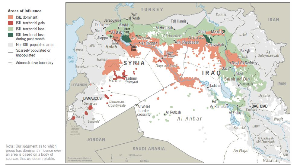 Image map ISIS Syria