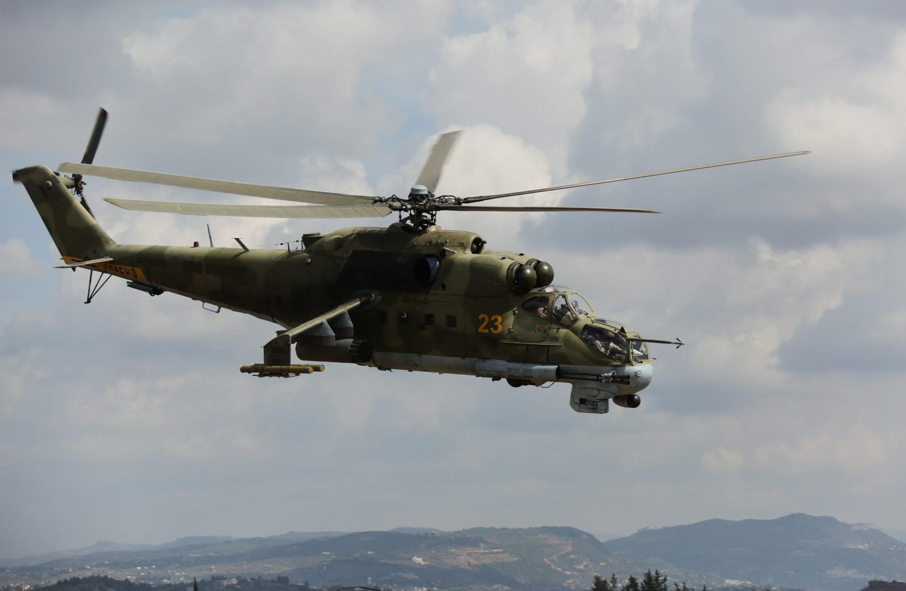Image Russia's Mil Mi-24 combat helicopter