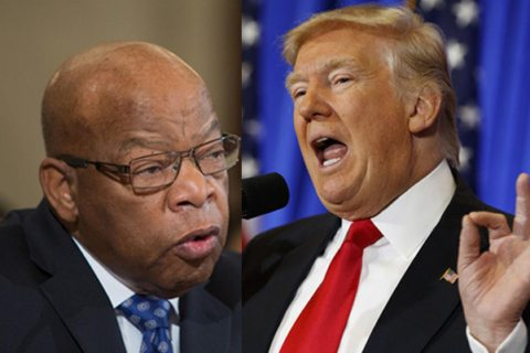 Image Trump attacks John Lewis