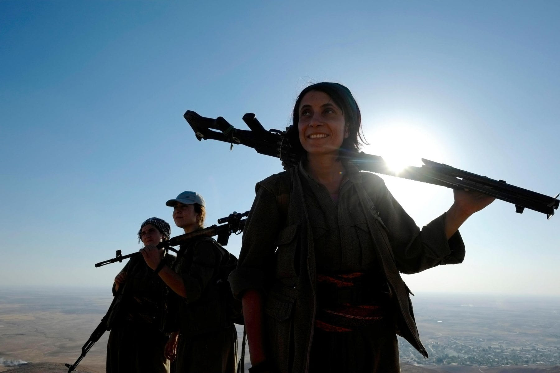 Image Women fighters of the Kurdistan Workers Party PKK in Makhmur area near Mosul Northern Iraq