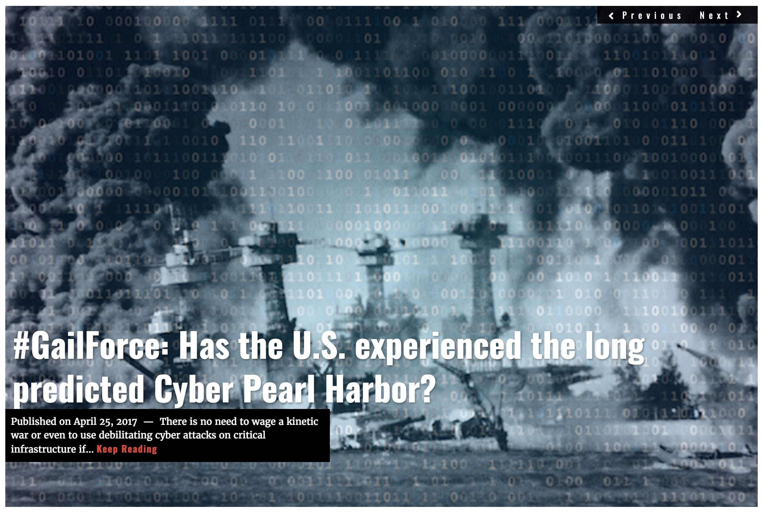 Image Lima Charlie News Headline Cyber Pearl Harbor G.Harris APR25