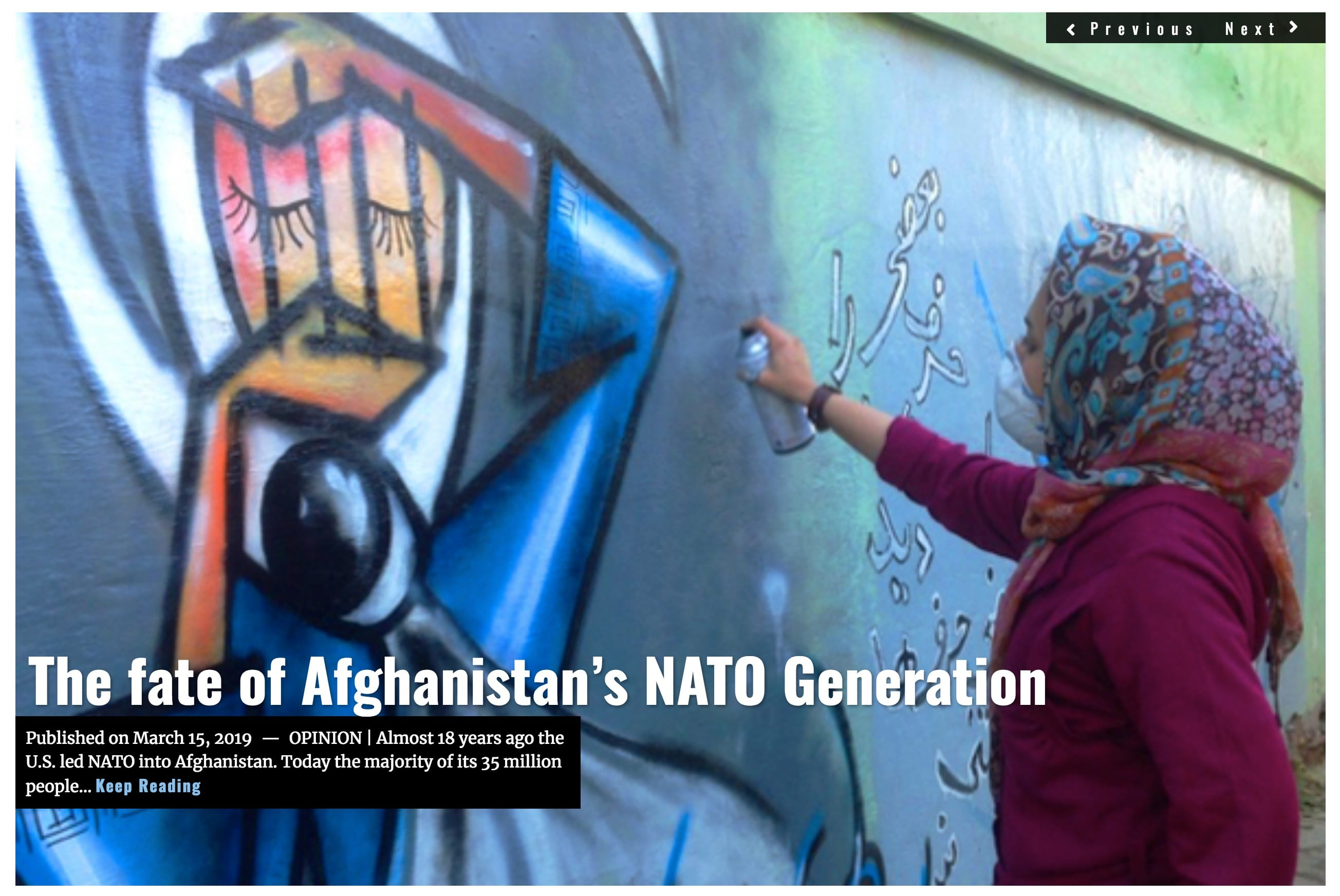 Image Lima Charlie News Headline Afghanistans NATO Generation Doug Brooks MAR 15 2019