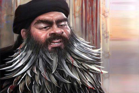 Image main Abu Bakr al-Baghdadi caricature Tehran