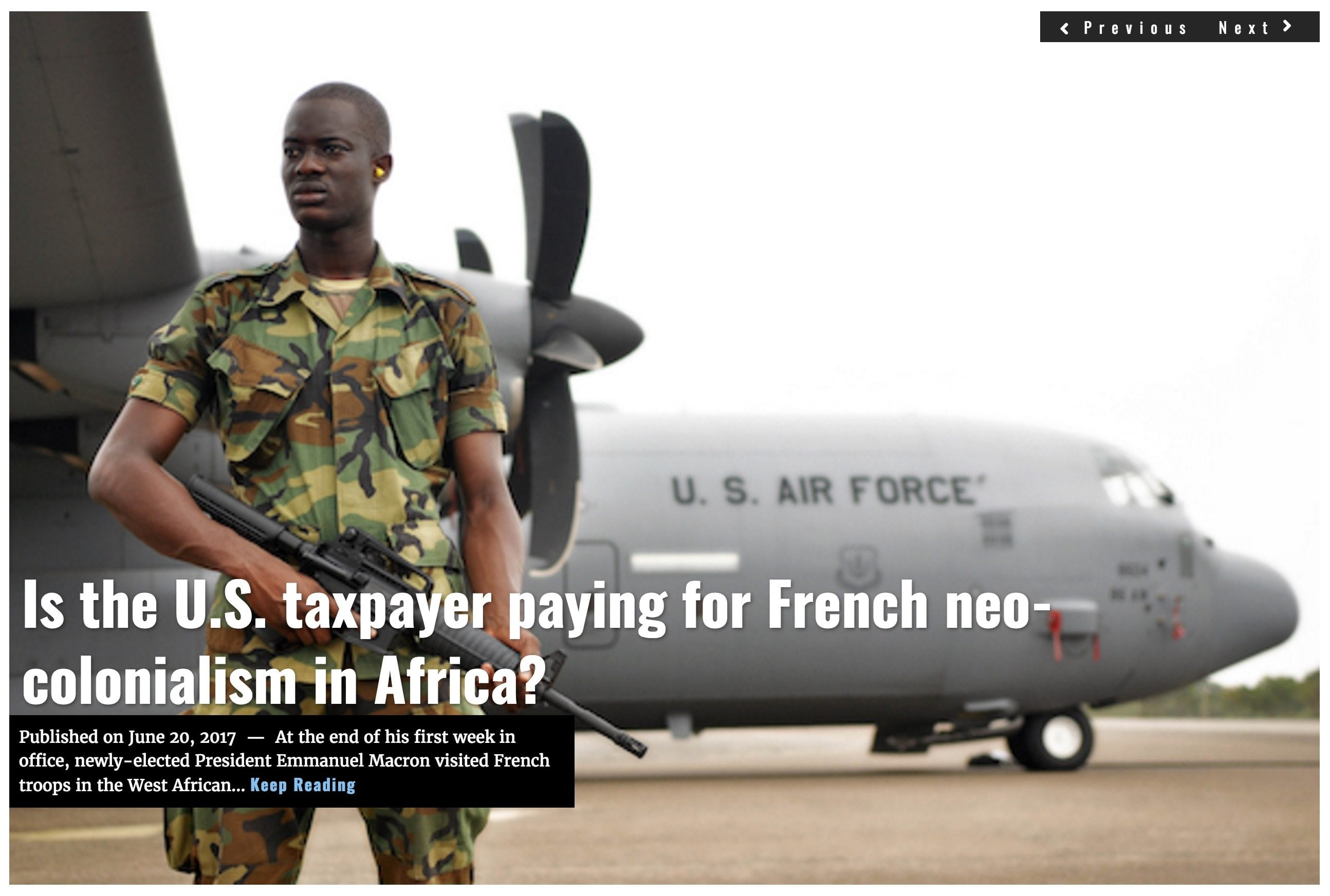 Image Lima Charlie News Headline US taxpayer neo-colonialism France Africa-G.Busch-JUN20 Sahel