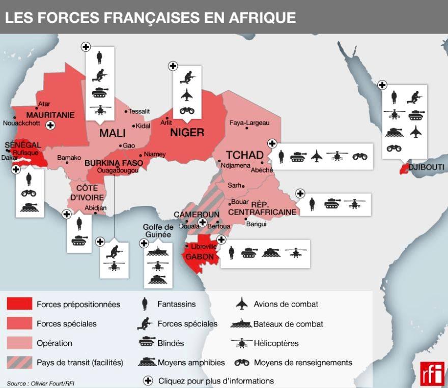 Французская сфера влияния в Африке. ЦАР уже выпала из нее. Теперь под угрозой Мали.