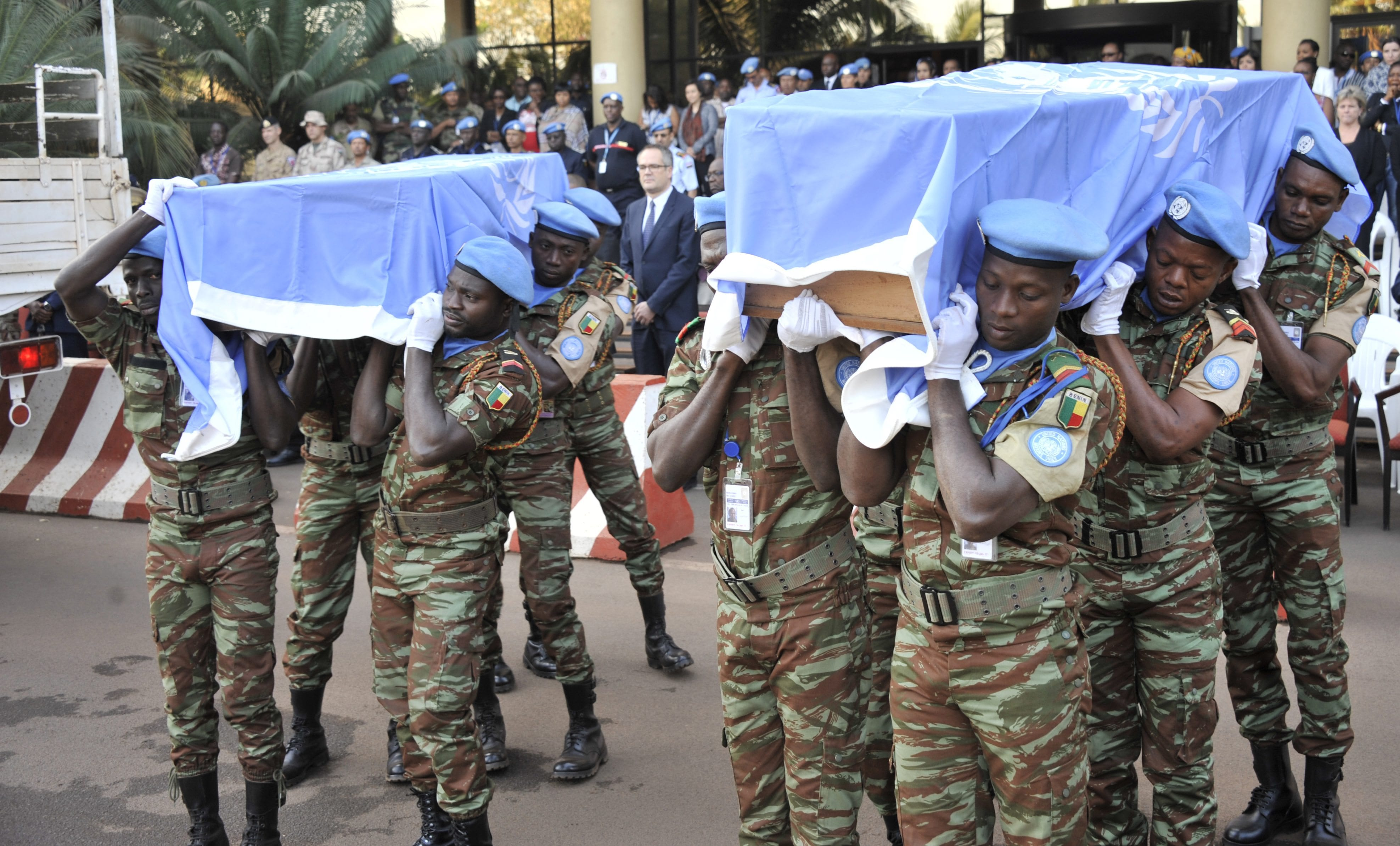 Image UN peacekeepers funeral Mali