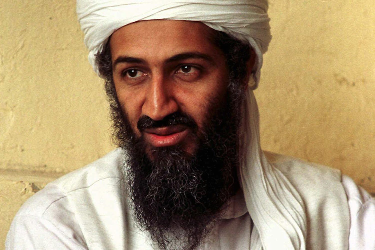 Osama bin Laden, April 1998, Afghanistan (AP)