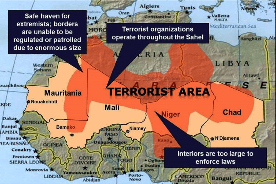 Image map terrorism Africa