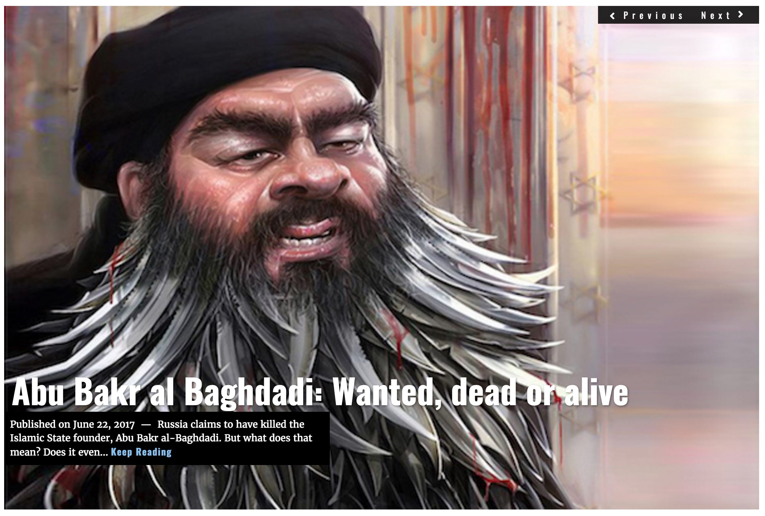 Image Lima Charlie News Headline al Baghdadi JUN22 J.Sjoholm