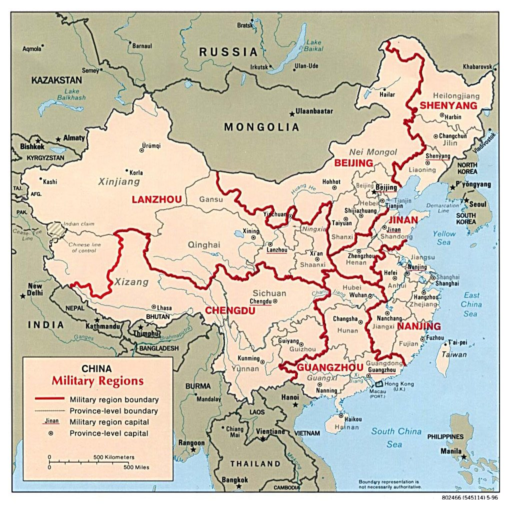 Image China military regions map