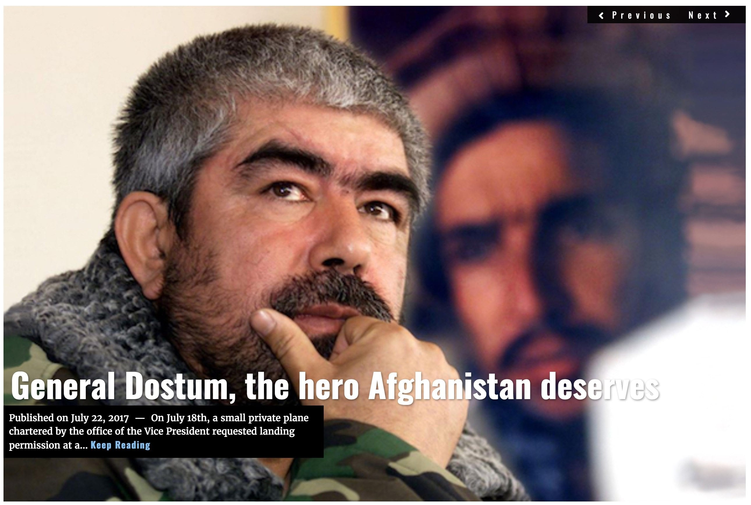 Image Lima Charlie News headline General Dostum