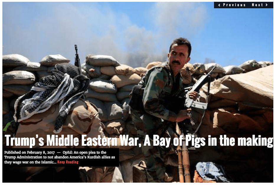 Image Lima Charlie News headline Bay of Pigs Kurds