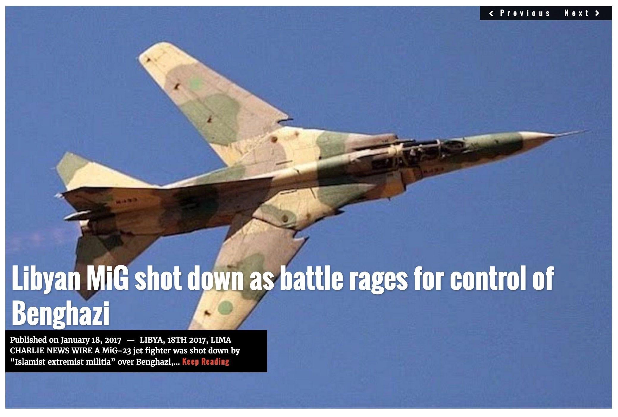 Lima Charlie News headline Benghazi