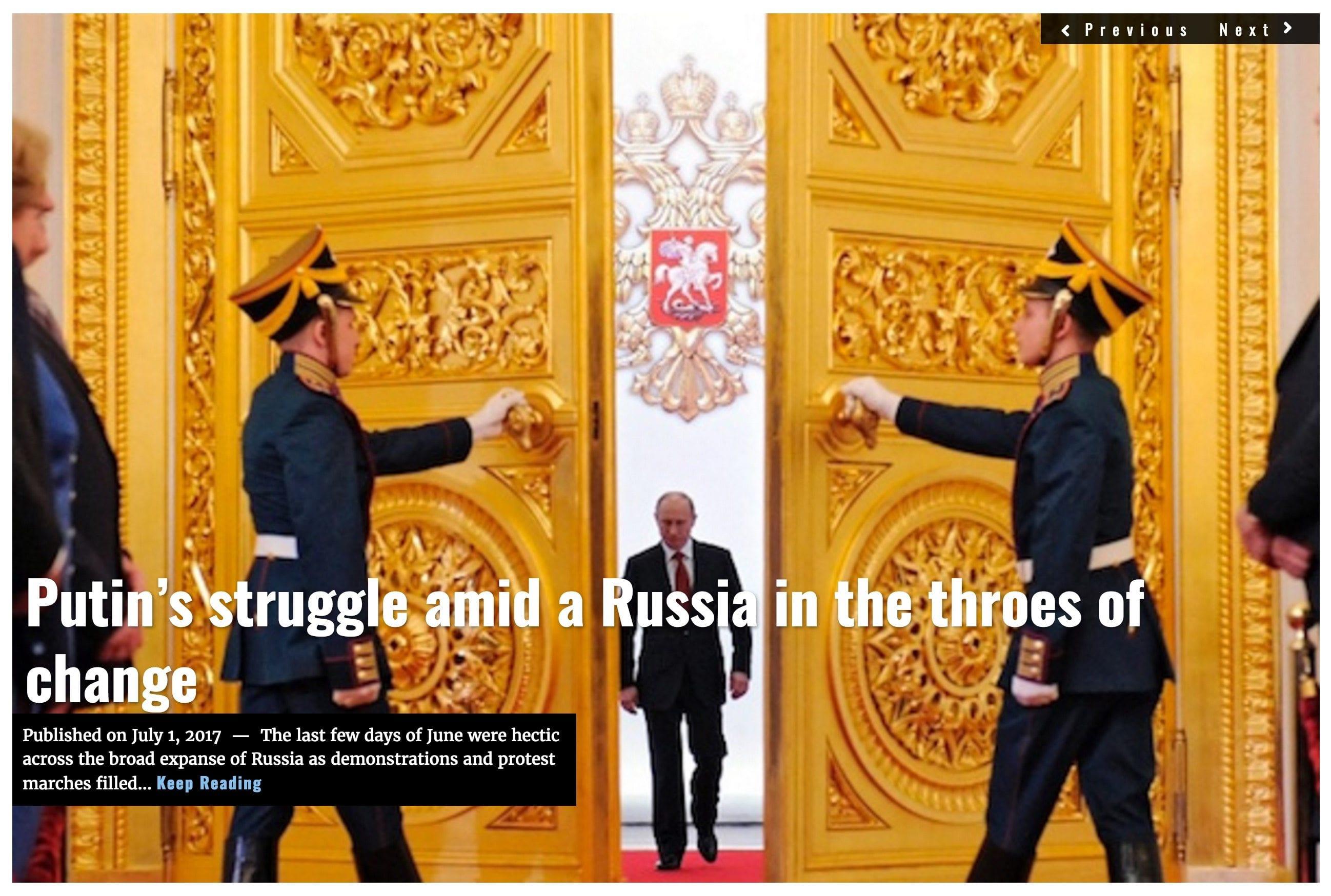 Image Lima Charlie News headline Putin's struggle