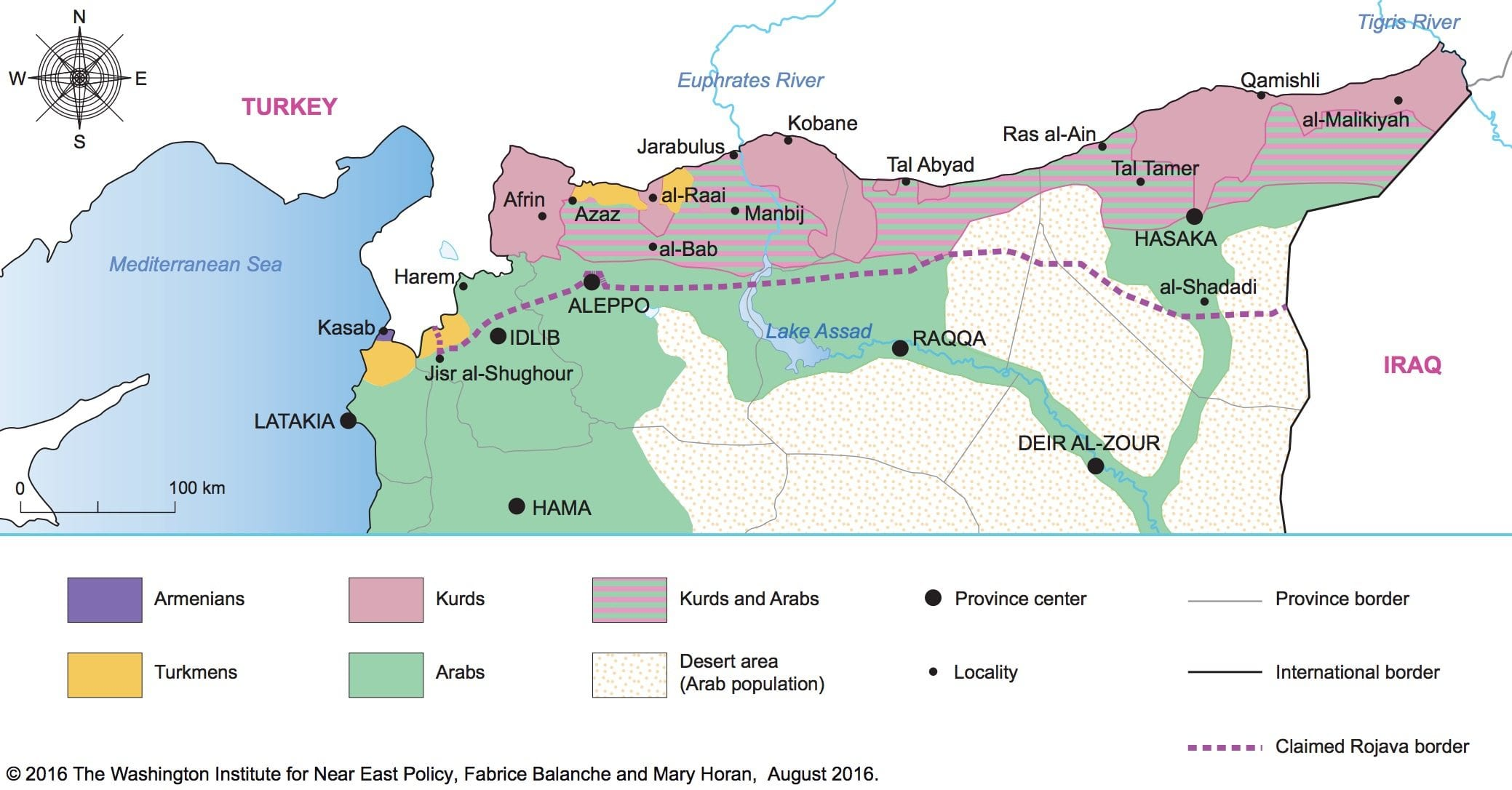 Image Rojava map Syria