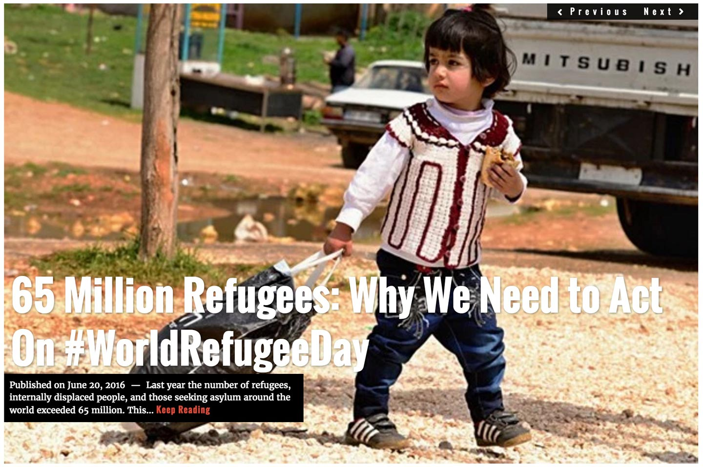 Image Lima Charlie News headline June 20, 2016 World Refugee Day