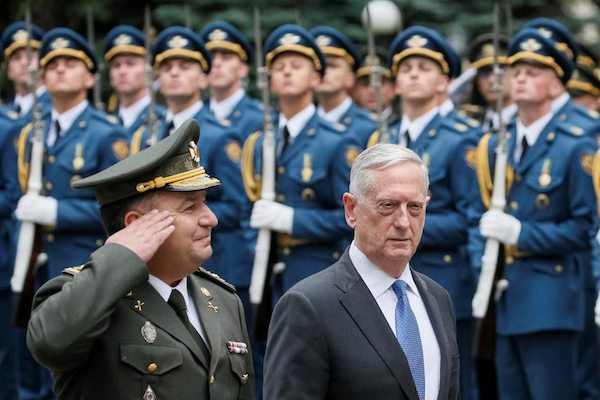 Image Secretary of Defense Mattis hints of arming Ukraine