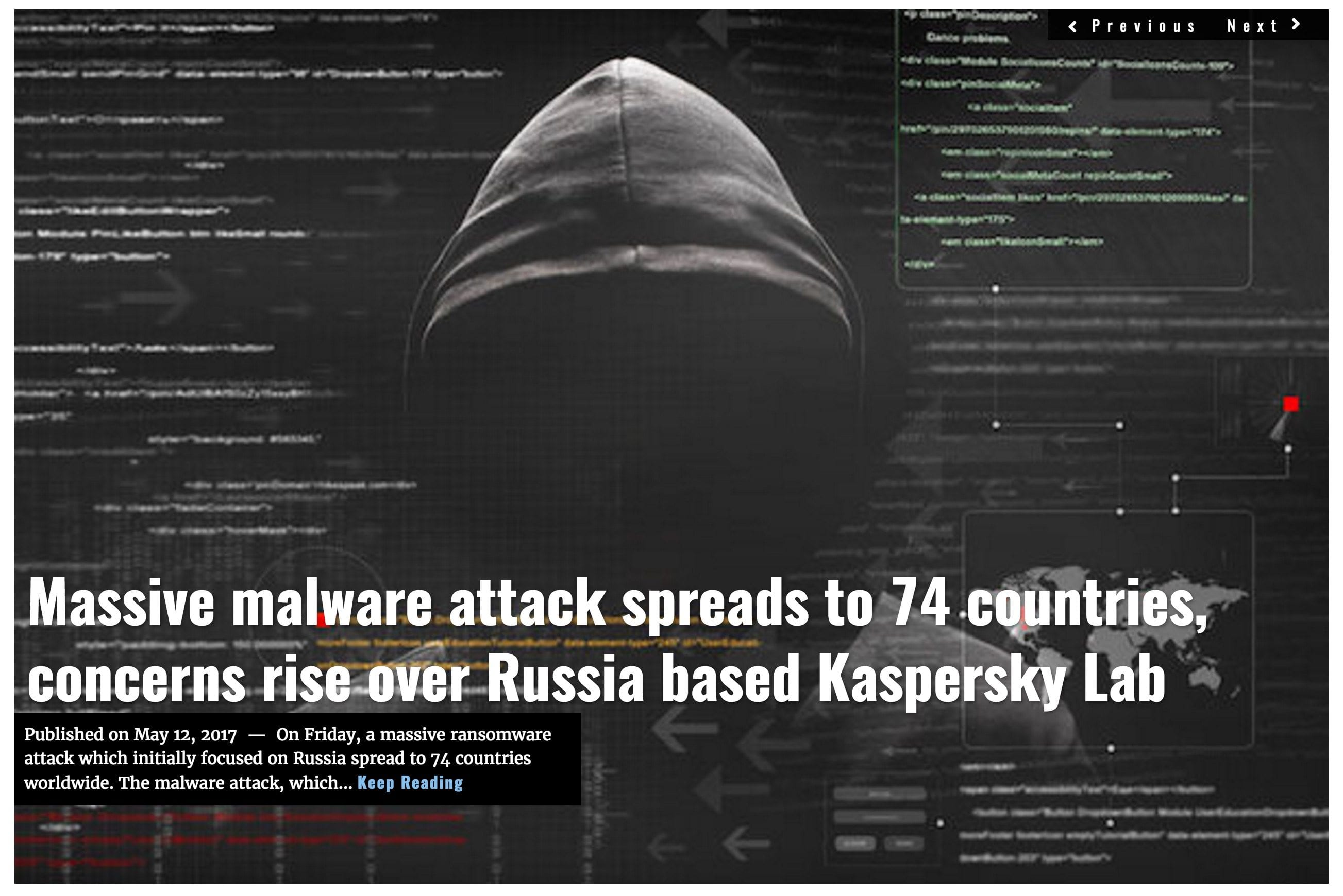 Image Lima Charlie News headline Malware attack MAY12
