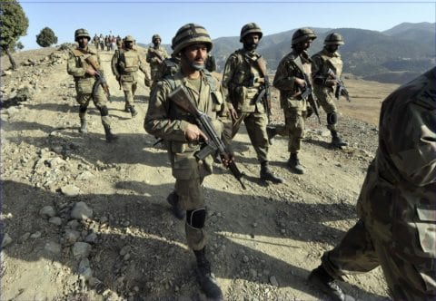 Image Pakistani soldiers killed during search and destroy mission on Pakistan Afghan border