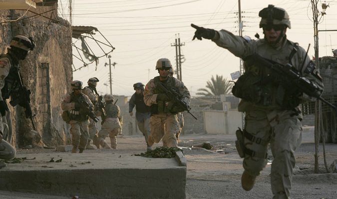 Image U.S. troops and Iraqi police, Tal Afar, Iraq, January 16, 2006