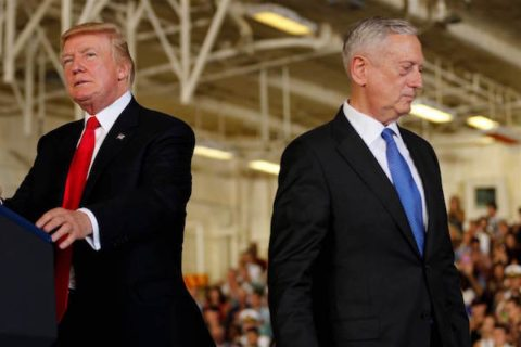 Image headline Mattis and Trump, a rift between a warrior and a civilian widens over sex