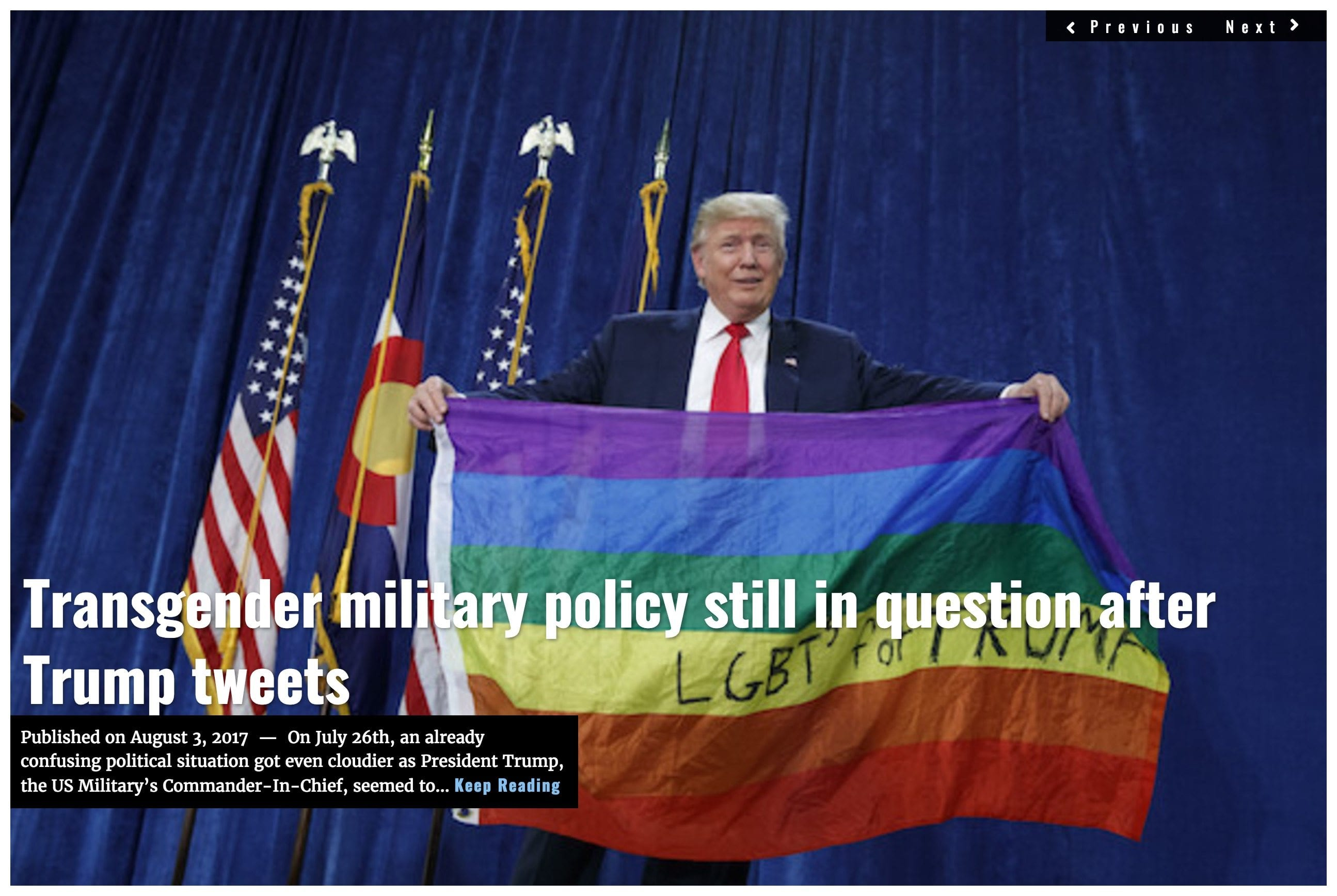 Image Lima Charlie News headline Trump transgender