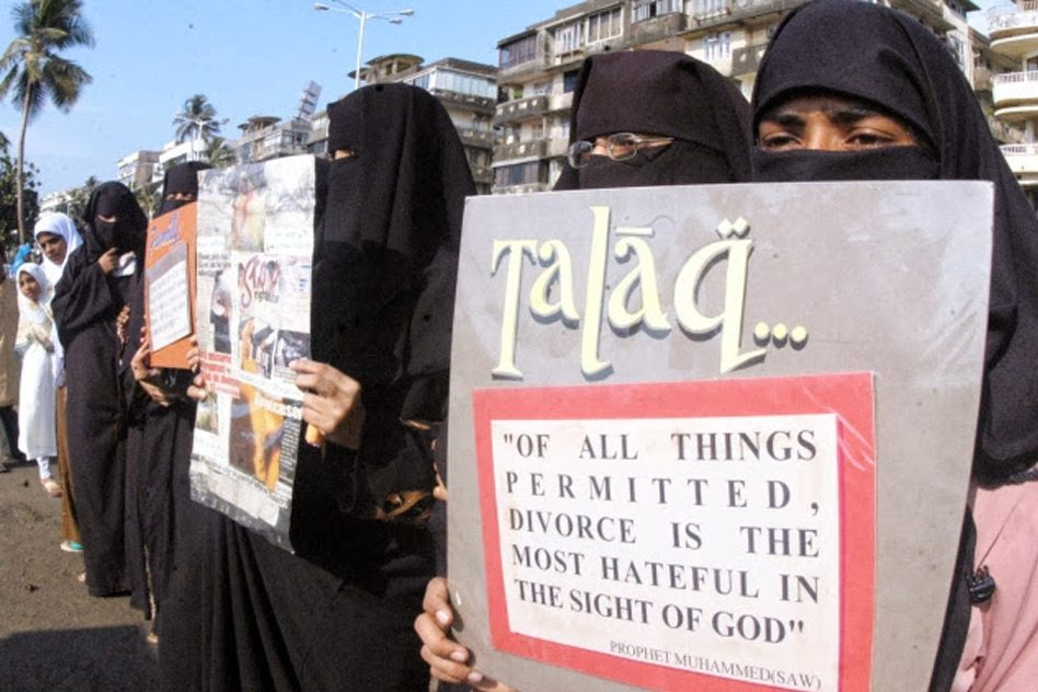 Image India triple talaq protest