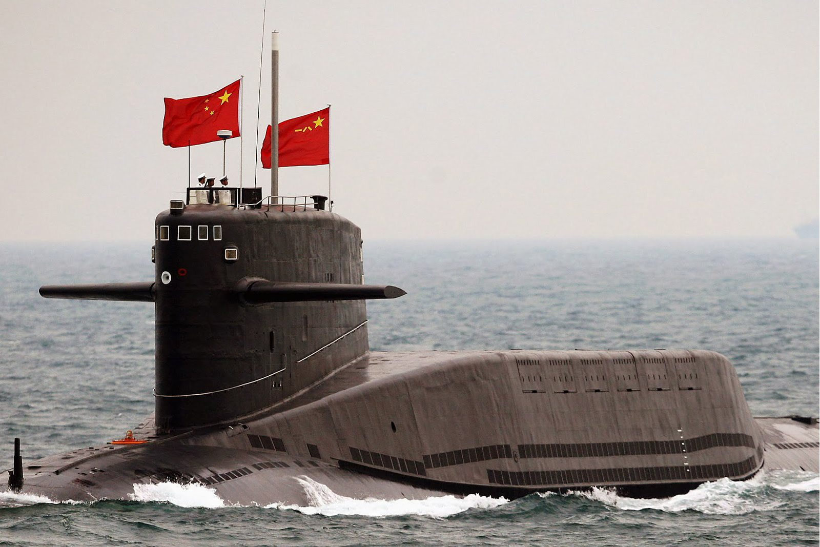Image A Chinese Xia-class nuclear-powered submarine (Kyodo photo)
