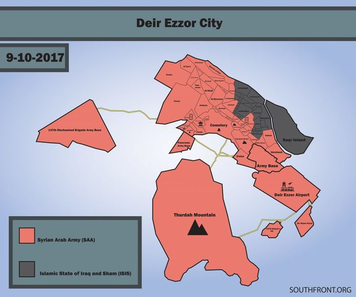 Image Deir Ezzor map South Front