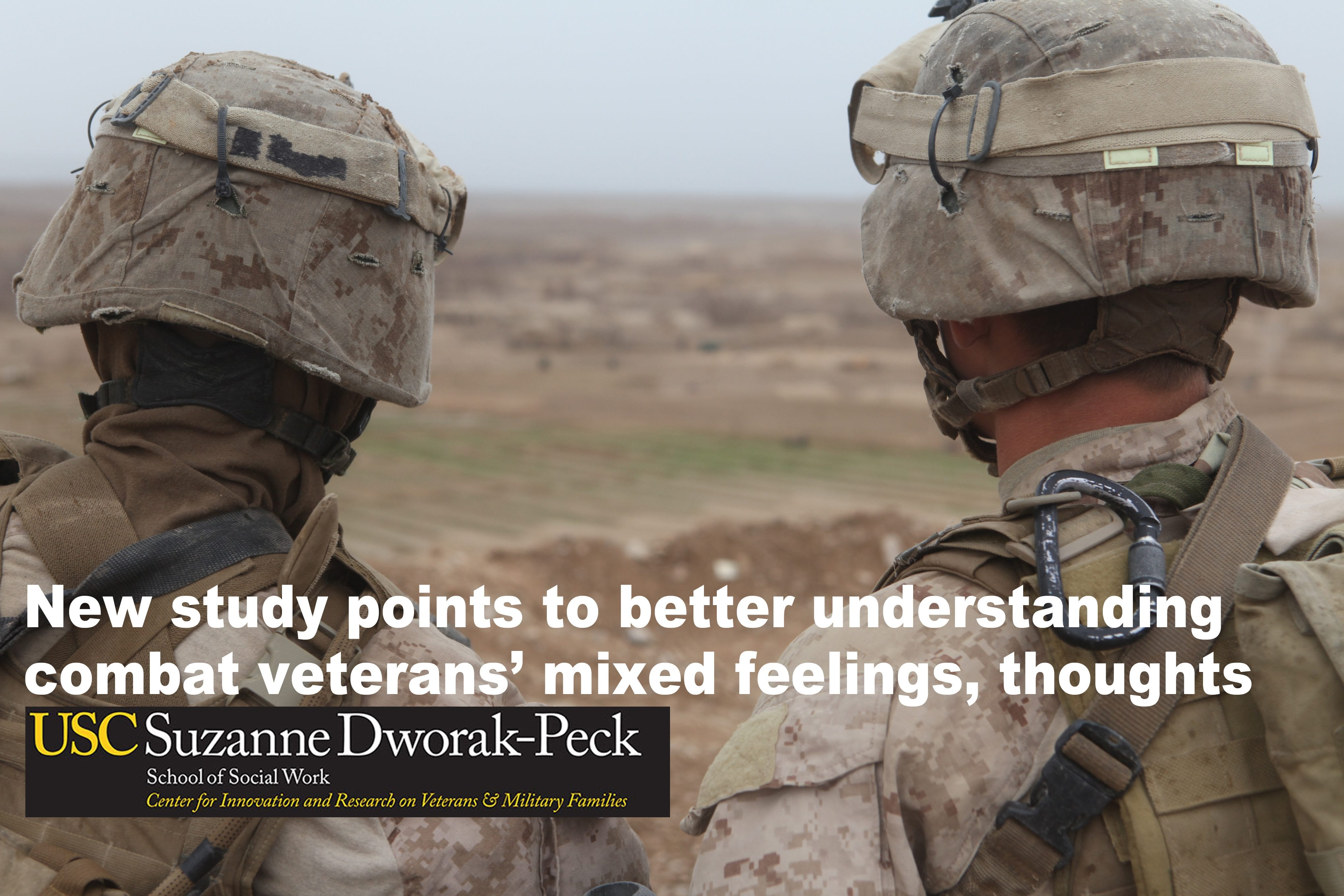 Image New study points to better understanding combat veterans' mixed feelings, thoughts