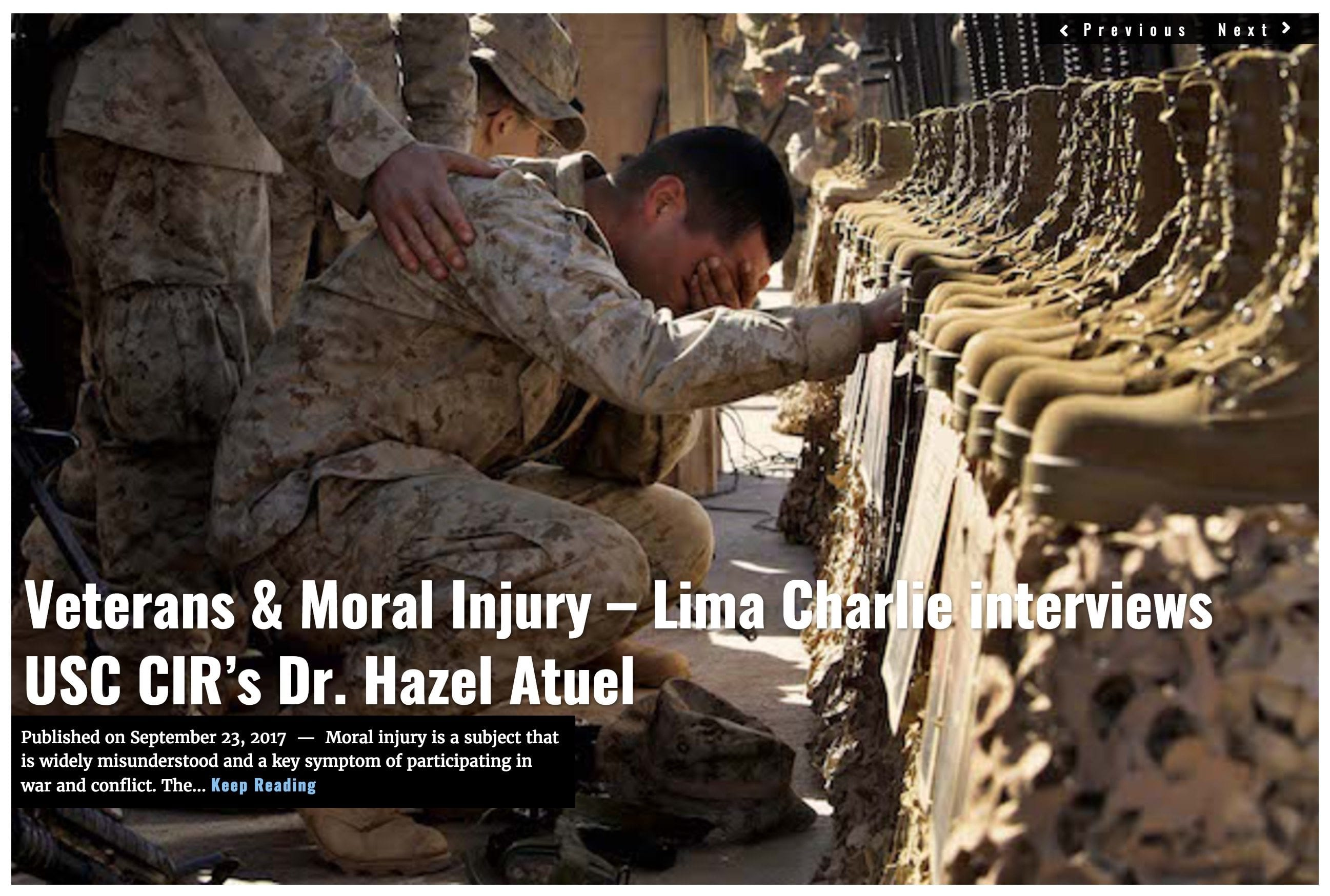 Image Lima Charlie News Headline Veterans Moral Injury Podcast SEPT23