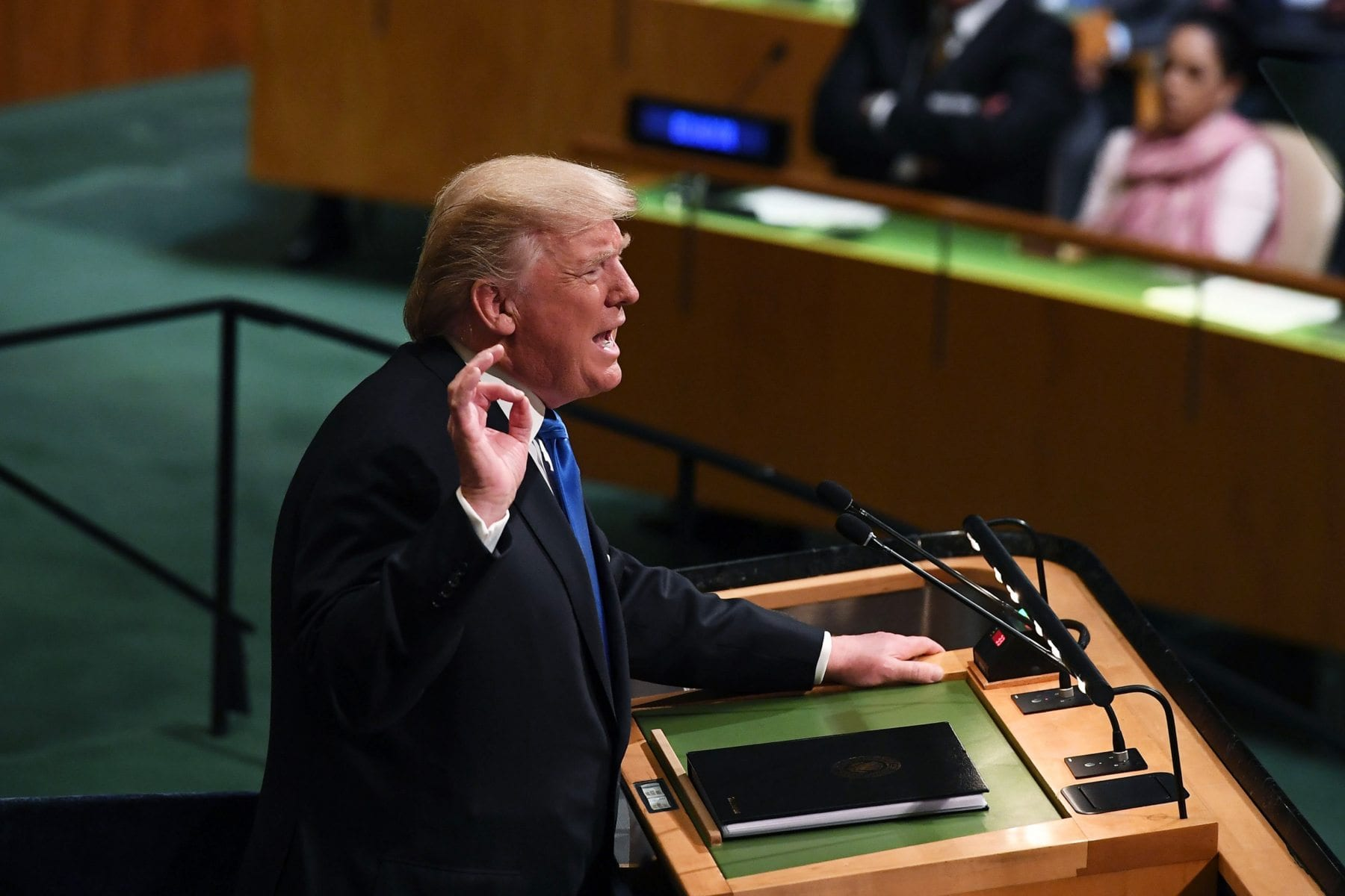 US President Donald Trump addresses the UN General Assembly in New York